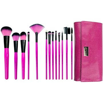 Sada kosmetických štětců ROYAL & LANGNICKEL Pink Essentials™ Synthetic Wrap Kit 13 pcs (#BPBE-SET13S)