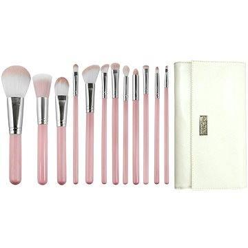 Sada kosmetických štětců ROYAL & LANGNICKEL Love is... Kindness™ Wrap Kit 12 pcs Pink (#BLK-SET12)