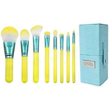 Sada kosmetických štětců ROYAL & LANGNICKEL Love is ...Hopeful™ Travel Brush Kit 8 pcs Yellow (#BLH-SET8T)
