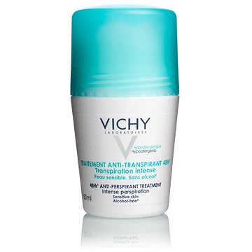 Dámský deodorant VICHY Deo Traitement Anti-transpirant 48h Transpiration Intense Roll-on 50 ml (33