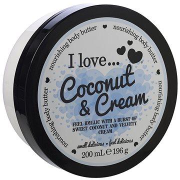 Tělové máslo I LOVE… Nourishing Body Butter Coconut & Cream 200 ml (5060217188293)
