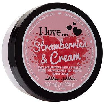 Tělové máslo I LOVE… Nourishing Body Butter Strawberries & Cream 200 ml (5060217188286)
