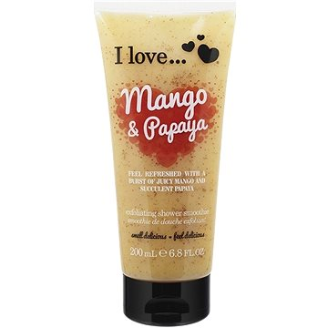 Sprchový peeling I LOVE… Exfoliating Shower Smoothie Mango & Papaya Exfoliating 200 ml (5060217188729)