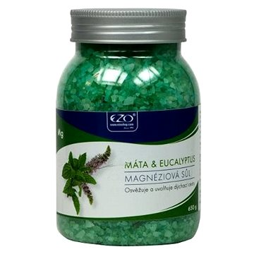 Koupelová sůl EZO Živá magnéziová sůl Máta & Eukalyptus 650 g (8586006999019)