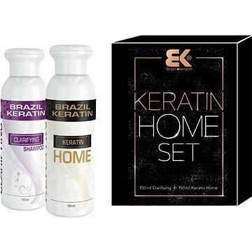 BK Brazil Keratin Beauty For Home vlasová kúra pro narovnání vlasů 150 ml + Clarifying čistící šampón 150 ml dárková sada