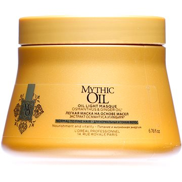 Maska na vlasy ĽORÉAL PROFESSIONNEL Mythic Oil Masque Fine Hair 200 ml (3474636391165)