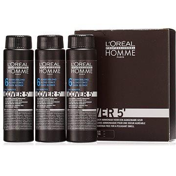 Barva na vlasy ĽORÉAL PROFESSIONNEL Homme COVER 5 6 3 x 50 ml (6 - tmavá blond) (3474634006498)