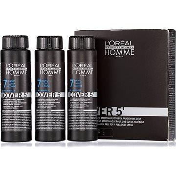 Barva na vlasy ĽORÉAL PROFESSIONNEL Homme COVER 5 7 3 x 50 ml (7 - střední blond) (3474634006504)