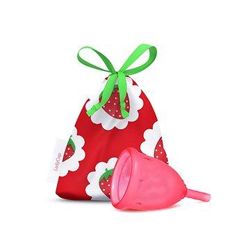 Ladycup menstruační kalíšek SWEET STRAWBERRY velikost L + ZDARMA Ubrousky Lady Wipe