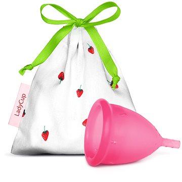Ladycup menstruační kalíšek SWEET STRAWBERRY velikost S + ZDARMA Ubrousky Lady Wipe