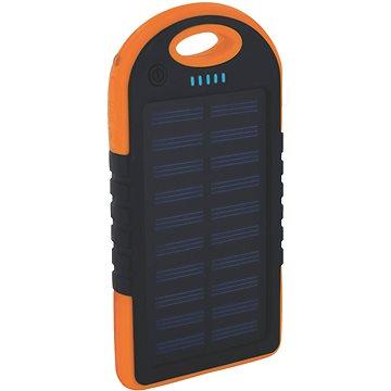 XLAYER Powerbank PLUS Outdoor Solar 4000mAh černá/oranžová (212847)