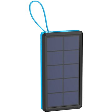 XLAYER Powerbank PLUS Solar 10000mAh černá/modrá (215772)