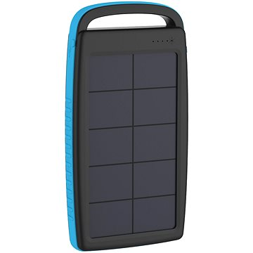 XLAYER Powerbank PLUS Solar 20000mAh černá/modrá (215775)