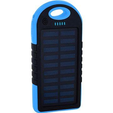 XLAYER Powerbank PLUS Solar 4000mAh černá/modrá (215897)