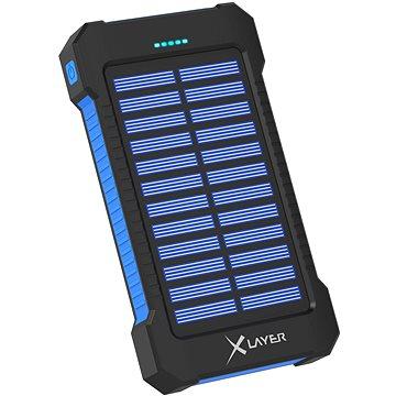 XLAYER Powerbank PLUS Solar 8000mAh černá/modrá (215869)