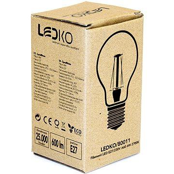 LEDKO FILAMENT E27 6W 2700K (LEDKO/80011)