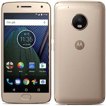 Motorola Moto G Plus 5.generace Gold (SM4470AJ1N7) + ZDARMA Digitální předplatné Týden - roční