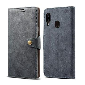 Lenuo Leather pro Samsung Galaxy A20e, šedé (470641)