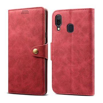 Lenuo Leather pro Samsung Galaxy A40, červené (470607)