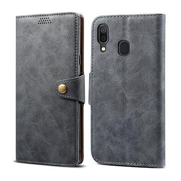 Lenuo Leather pro Samsung Galaxy A40, šedé (470609)