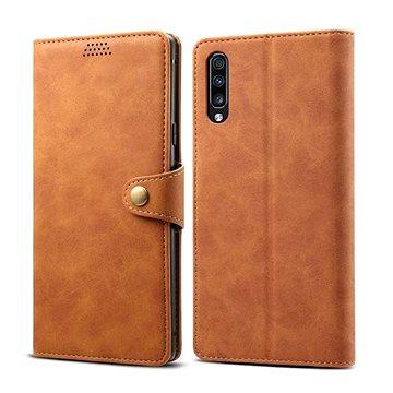 Lenuo Leather pro Samsung Galaxy A70, hnědé (470614)