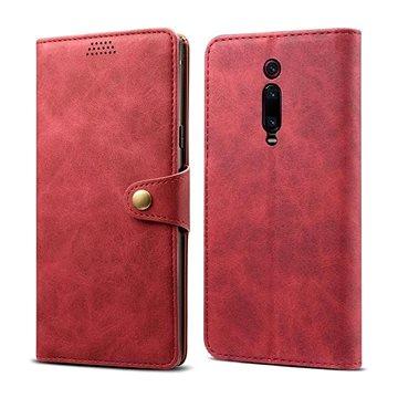 Lenuo Leather na Xiaomi Mi 9T/Mi 9T Pro, červené