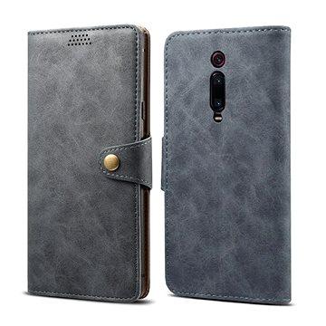 Lenuo Leather na Xiaomi Mi 9T/Mi 9T Pro, šedé