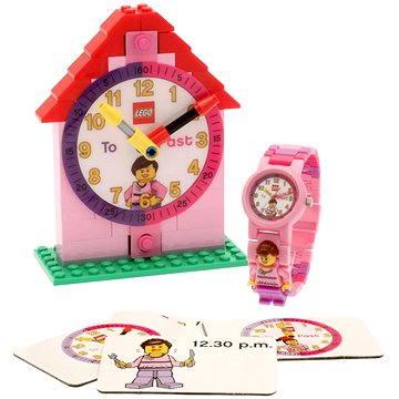 Hodinky LEGO Time Teacher 9005039 růžové (5060286800782)