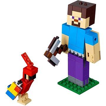 LEGO Minecraft 21148 Minecraft velká figurka: Steve s papouškem (5702016370560)