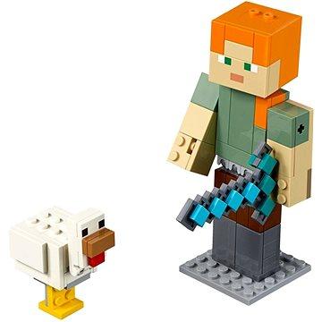 LEGO Minecraft 21149 Minecraft velká figurka: Alex s kuřetem (5702016370874)