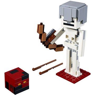 LEGO Minecraft 21150 Minecraft velká figurka: Kostlivec s pekelným slizem (5702016370881)