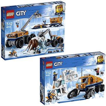 LEGO City 60195 Mobilní polární stanice + LEGO City 60194 Průzkumné polární vozidlo