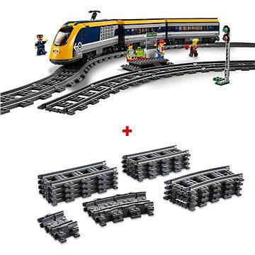 LEGO City Trains 60197 Osobní vlak a City Trains 60205 Koleje