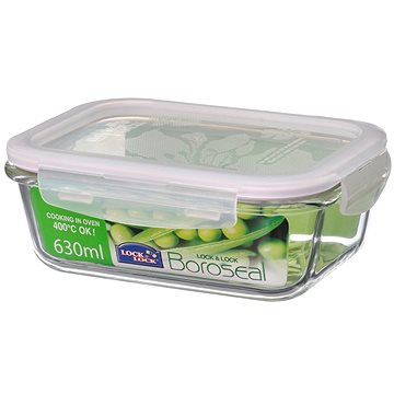 Lock&Lock Dóza na potraviny, 630ml, borosilikátové sklo (LLG428)