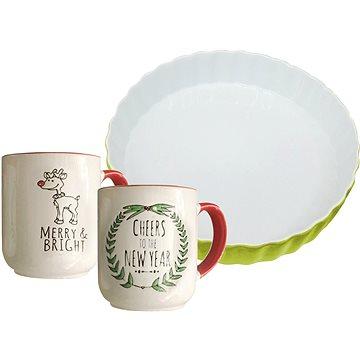 By-inspire 3-dílná Vánoční sada čajových hrnků a zapékací mísy (7855-99-00)