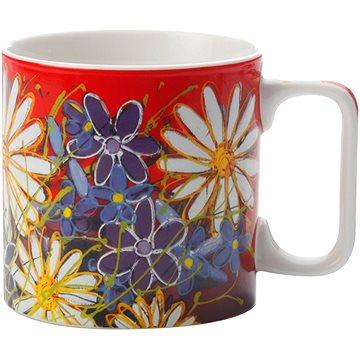 Maxwell & Williams Hrnek 350ml Art Love Life, červený, bílá květina (PM9001)