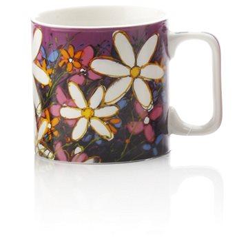 Maxwell & Williams Hrnek 350ml Art Love Life, fialový, bílá květina (PM9004)