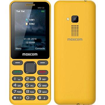 Maxcom Classic MM139 žlutá