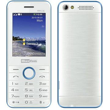 Maxcom MM136 bílomodrá (MM136WH/BLDS)