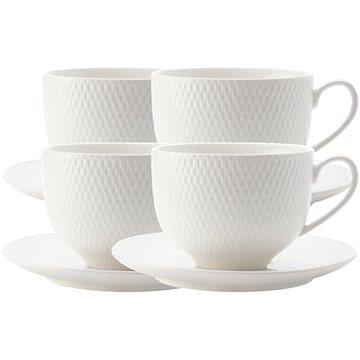 Maxwell & Williams Sada čajových šálků s podšálkem DIAMONDS 220 ml 4 ks (DV0028)