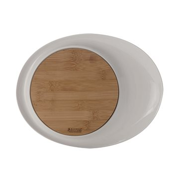 Maxwell & Williams WHITE BASICS BAMBOO Oválný servírovací talíř 33x26 cm (LH9204)