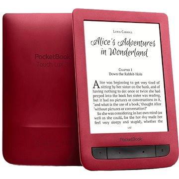 PocketBook 626(2) Touch Lux 3 červený + ZDARMA Pouzdro PocketBook DOTS červeno - šedé