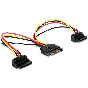 Gembird Cableexpert SATA napájecí na 2x SATA 90°, rozdvojka, 0.15m (CC-SATAM2F-02)