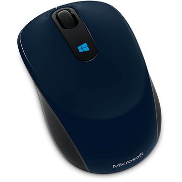 Microsoft Sculpt Mobile Mouse Wireless, modrá (43U-00014)