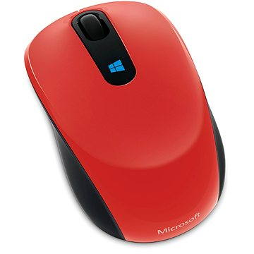 Microsoft Sculpt Mobile Mouse Wireless, červená (43U-00026)