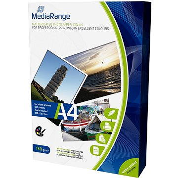 MEDIARANGE A4 100 listů, matný (MRINK101) + ZDARMA Popisovač MEDIARANGE permanentní na CD/DVD - 4 barvy + zmizík