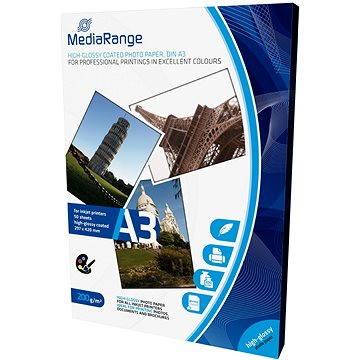 MEDIARANGE A3 50 listů, lesklý (MRINK109) + ZDARMA Baterie MediaRange Super heavy duty AAA 4ks
