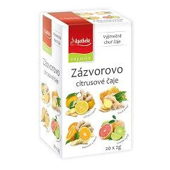 Apotheke PREMIER Zázvorovo-citrusové čaje 4v1 4x5x2g (8595178205446)