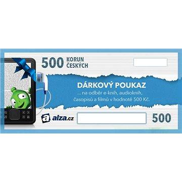 Elektronický dárkový poukaz Alza.cz na nákup e-knih, audioknih, časopisů a filmů v hodnotě 500 Kč