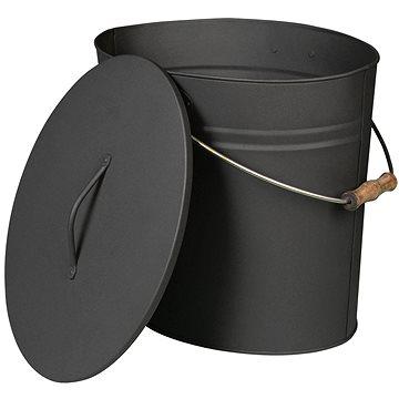 Lienbacher Oválná nádoba s víkem na popel 24l, antracit (21.02.463.2)